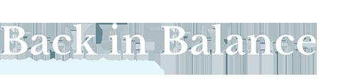 Back in Balance Wimborne Chiropractor logo